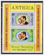 0309 Antigua 1973 Royal Wedding Princess Anne Mark Phillips S/S MNH - Antigua En Barbuda (1981-...)
