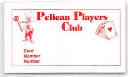 Pelican Palace Casino - Vinton, LA - Laminated Paper Players Club Card - Casino Cards