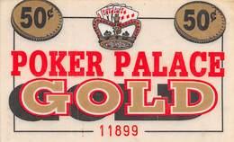 Poker Palace Casino Las Vegas, NV - Laminated Paper Coupon - Casino Cards