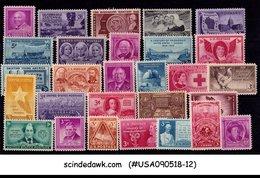 UNITED STATES USA - 1948 COMMEMORATIVE YEAR SET SCOTT#953-80 - 28V MINT NH - Etats-Unis