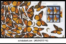 CANADA - 2014 MONARCH BUTTERFLY / BUTTERFLIES / INSECTS - Blk Of 4 FDC - First Day Covers