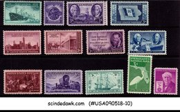 UNITED STATES USA - 1946 COMMEMORATIVES SET SSCOTT#939-47,949-52 13V - MINT NH - United States