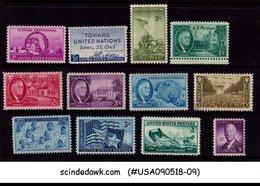 UNITED STATES USA - 1945 COMMEMORATIVE SET SCOTT#927-38 - 12V - MINT NH - United States