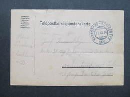 Feldpostkorrespondenzkarte Hannsdorf - Königgratz Bahnpost Zugstempel Nr.:166 1914 ///  D*35090 - 1850-1918 Imperium
