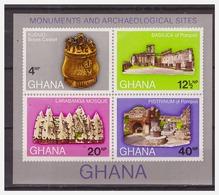 0464 Ghana Larabanga Mosque Basilica Pompeii S/S MNH Imperf - Monumenten