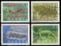 Canada (Scott No.1306-09 - Conodonts) (o) Série / Set - 1952-.... Règne D'Elizabeth II