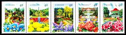 Canada (Scott No.1311-15 - Jardins Publics / Public Gardens) [**] Bande / Strip - 1952-.... Reign Of Elizabeth II