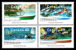 Canada (Scott No.1317-20 - Petites Embarcations / Pleasure Boats) [**] - 1952-.... Règne D'Elizabeth II