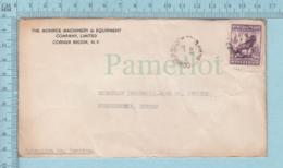 Terre Neuve, Newfoundland - # 191 On  Commercial Envelope, Monroe Machinery To Sherbrooke Quebec - 1908-1947
