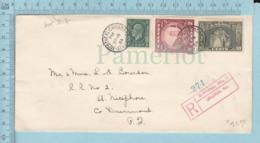 Canada - # 205, 209, 210I, Enregistré, Cover Montreal Canada Station C, 1934 - 1911-1935 Reign Of George V