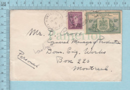 Canada  - # 291+ #E 11,Special Delivery Expres, Cover Montreal 1951, - Exprès