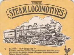 UNUSED BEERMAT - COURAGE BREWERY (SOUTHWARK, ENGLAND) - BRITISH STEAM LOCOMOTIVES - (Cat 153) - (1981) - Portavasos