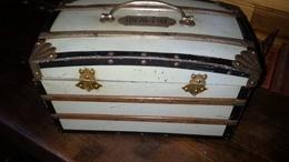 Rare BOITE MALLE Bombée LULU Vert Pâle G.DREYFUS - Lefèvre Utile Biscuit LU 1901 - Boxes