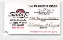 Santa Fe Casino - Las Vegas, NV - Laminated Paper Player's Edge Card - Casino Cards