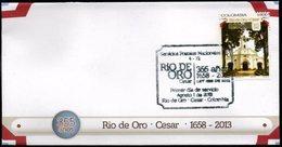 COLOMBIA- KOLUMBIEN- 2013.  FDC/SPD. DIM, RIO DE ORO CITY, 355 YEARS, 1658-2013. - Colombia