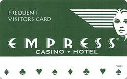 Empress Casino Thin Plastic Frequent Visitors Card - Earn Free Night's Stay - Casino Cards