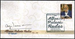 """COLOMBIA- KOLUMBIEN- 2013.  FDC/SPD. ALFONSO PALACIO RUDAS """" EL COFRADE"""" 1912-1996. - Colombia"""