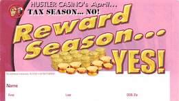 Hustler Casino - Gardena CA - Paper Rewards Season Reward Card - Casino Cards