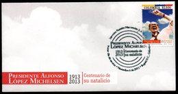 COLOMBIA- KOLUMBIEN- 2013.  FDC/SPD. PRESIDENT ALFONSO LOPEZ MICHELSEN 1913-2013 - Colombia