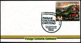 COLOMBIA- KOLUMBIEN- 2013.  FDC/SPD. COFFEE CULTURAL LANDSCAPE - Colombia
