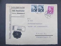 BRIEF Olomouc - Prag 1943 ///  D*35098 - Briefe U. Dokumente