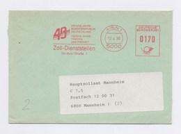 AFS - 40 Vierzig Jahre Bundesrepublik Deutschland, Zoll-Dienststellen KÖLN 12.4.90 - BRD