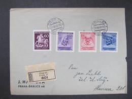 R-BRIEF Praha - Husinec 1943 ///  D*35104 - Briefe U. Dokumente