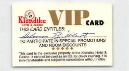 Rare Klondike Laminated Paper VIP Card - Las Vegas, NV - Casino Cards