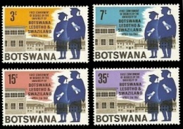 (004) Botswana  1967  University / Universität  ** / Mnh  Michel 33-36 - Botswana (1966-...)