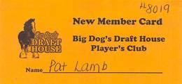 Big Dog's Draft House - Las Vegas, NV - Paper Players Club Card - Casino Cards