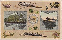 AUSTRALIA TASMANIA HANDS ACROSS THE SEA POSTCARD - Hobart