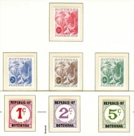 (600-601) Botswana  1967/71  Postage Dues / Timbres Taxe / Portomarken / Elephant  ** / Mnh  Michel 1-7 - Botswana (1966-...)