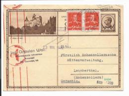 Rumänien P 96 - 6 Lei Karl II Nach Li. BiPo Le Chateau De Bran M. 4 L.  ZF N. Laucherthal Bedarfsverwendet, Zensur - Ganzsachen