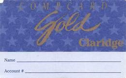 Claridge Casino Atlantic City, NJ - Paper Compcard Gold Card - Casino Cards