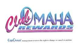 Club Omaha Rewards From CasinOmaha - BLANK Paper Card - Casino Cards