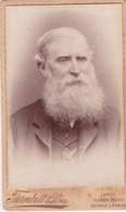 ANTIQUE CDV PHOTO - BEARDED MAN . LONDON @ SCOTTISH STUDIOS - Photographs