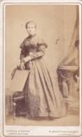 ANTIQUE CDV PHOTO -STANDING LADY. LONG DRESS. LIVERPOOL STUDIO. - Photographs