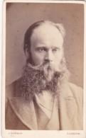 ANTIQUE CDV PHOTO -HEAVILY WHISKERED MAN. GLASGOW STUDIO. - Photographs