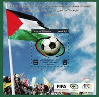 PALESTINE 2013 - FIFA RECOGNITION Of PALESTINIAN NATIONAL HOME GROUND M/S MNH ** - Football, Sports, Soccer Sport, Flag - Palestine