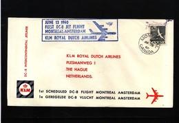 Netherlands 1960 KLM First Flight Montreal - Amsterdam - Period 1949-1980 (Juliana)