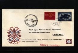 Netherlands 1960 KLM First Flight Amsterdam - Casablanca - Period 1949-1980 (Juliana)