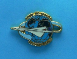 1 PIN'S //   ** LE CONCORDE / AIR FRANCE / TOUR DU MONDE / RECCORD BATTU ** . (Ballard Collection Doré à L'OR Fin) - Airplanes