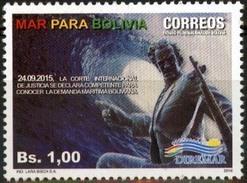 """Bolivia 2016 CEFIBOL 2295 ** """"Mar Para Bolivia"""". Ola Gigante. Avaroa. See Desc. - Bolivia"""