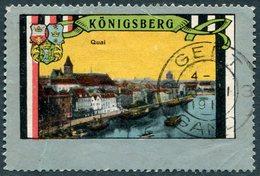 Germany EAST PRUSSIA Ostpreußen KÖNIGSBERG Quai Steamship Barge Dampfer Poster Vignette Reklamemarke Kaliningrad Russia - Cinderellas