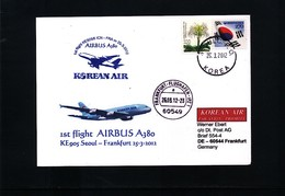 South Korea 2012 Korean Air First Flight Airbus A380 Seoul - Frankfurt - Korea, South