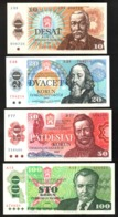 Czechoslovakia 10, 20, 50, 100 Korun UNC Tchécoslovaquie Cecoslovacchia - Cecoslovacchia