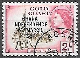 1957 Queen Elizabeth, Independence Overprint, 2sh, Used - Ghana (1957-...)