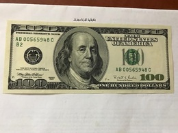 USA United States $100.00 Banknote 1996  #6 - Devise Nationale