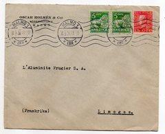 Suède -- 1931 --lettre De MALMOE Pour LIMOGES (France)--timbres - Cachet--Oscar  Holmes & C:o - Covers & Documents