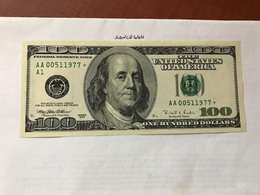 USA United States $100.00 Banknote 1996  #7 - National Currency